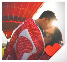 Романтический полет на воздушном шаре