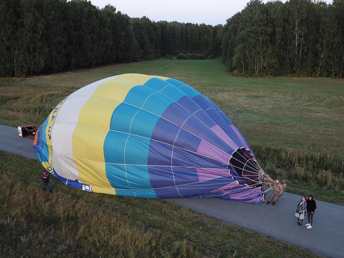 как проходит полет на воздушном шаре